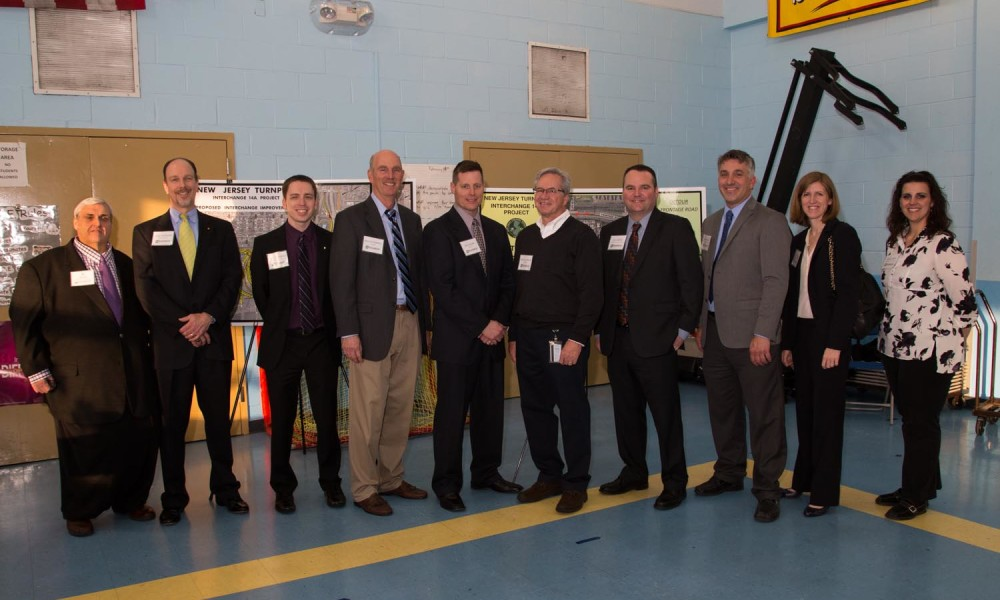 L to R: Shawn Taylor (NJTA), Mike Morgan (GF), Dave Nemeth (GF), Ray O'Donnell (AECOM), Tim Snow (AECOM), Tom O'Connor (AECOM), Joe Sheedy (NJTA), Chris Stokes (SCG), Lisa Navarro (NJTA), & Nicole Pace (SCG).