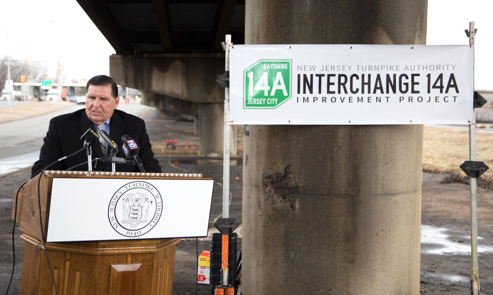 New Jersey Turnpike Authority Executive Director, Joseph Mrozek, greeted attendees and spoke of the significance of this improvement project.